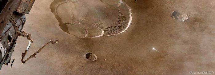 Olympus Mons from orbit by Ludo38