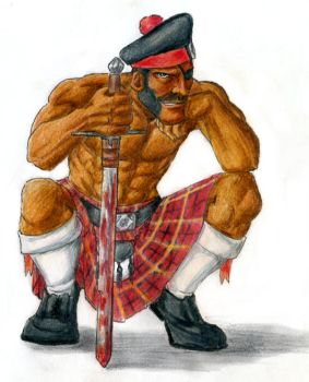 Black Scottish Cyclops by furball891