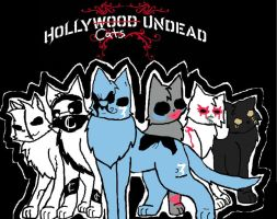 Hollywood Undead Cats by Sparkleztehpurplecat