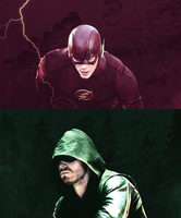 The Flash and  The Arrow by TheElectrifyingOneHD