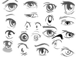 Speeding drawing Eye's by Freedomlastsforever
