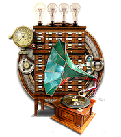 Steampunk Itunes Audio Player Icon MkII by yereverluvinuncleber