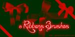 Ribbons Brushes by Giovyn86