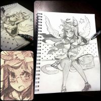 doodle on blocnote again by onwa7