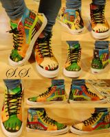 Custom Monster Girl Shoes by quie-tone