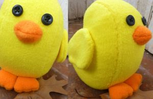 Baby Chick Plushie by greenchylde