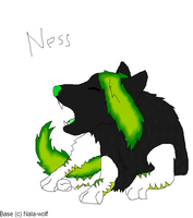 Ness wolf form by CanineCriminal