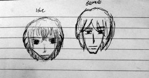 Uke and Seme (faces) by AryaFT
