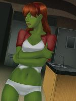 Cooking with M'gann by SunsetRiders7