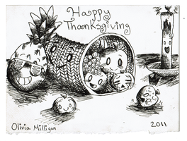 ThanksGiving Card by GreenSpiralCat
