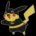 Pikachu Plays Dress Up as Batman by trekvix