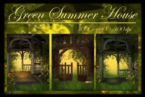 Green Summer House by KlaraKay