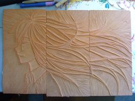 Lino Carving. by silky-heart