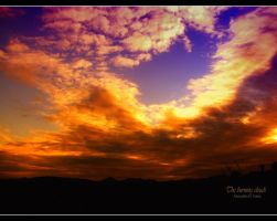The burning clouds by AlexandruGatea