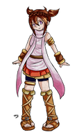 Margaret the Pink fighter by Lady-of-Link
