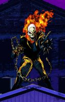 Rooftop Ghost Rider by RCarter