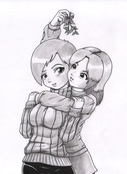 Canime and Pure X-Mas Sketch by canime