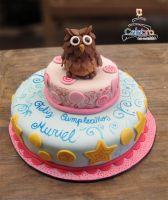 Owl cake by The-Nonexistent