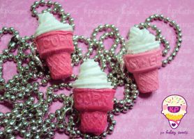ice cream cookie cone 3 by KPcharms