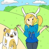 Fionna and Cake! by bobobutt