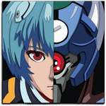 Evangelion Rei Portrait Mock Up by The-Paper-Pony