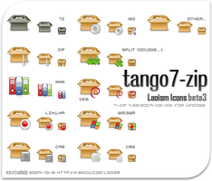 tango 7-zip icons beta3 by Laoism