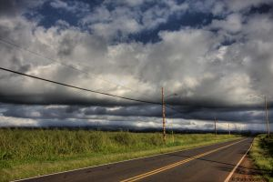 Stormy Road by Sharkywaters
