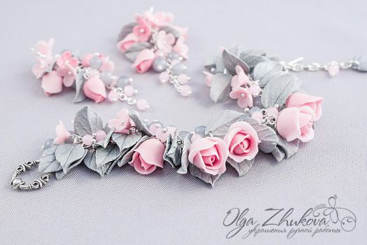 Jewelry from polymer clay by polyflowers
