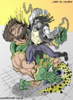 Lobo VS Kalibak by smaroon