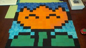 Quilted Mario Fire Flower by DemonAma