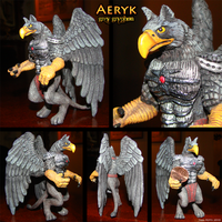Aeryk- Grey Gryphon by DragonosX