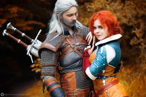 Geralt and Triss by KinslayeR13