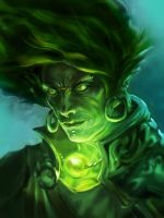 Green evil by XatYang