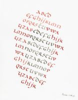 Uncial alphabet by Alpacalligraphy