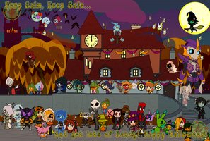 The Halloween Party 2013 - Happy Halloween by Dragon-FangX