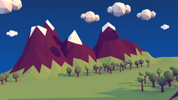 Low poly landscape by Drudoo