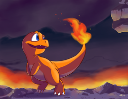 No.004 Charmander by Jurassiczalar