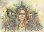Loki and the Magpies by Allantiee