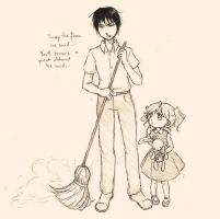 Roy Mustang and his Amazing Broom by Casadriss