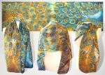 Peacock silk scarf - FOR SALE by MinkuLul