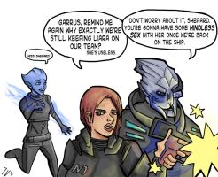 Why Liara's on the team by InaVangen