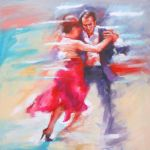 TANGO in the painting by renatadomagalska