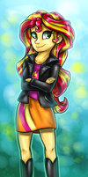 Sunset Shimmer human by GaelleDragons
