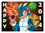 Happy 2014 by yuski