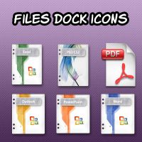 File Dock Icons by vesterdesigns