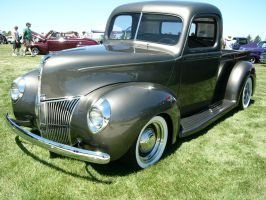 1940 Ford V8 pickup in gray by RoadTripDog