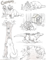 GatorGirls Sketchpage 2 by colonel-strawberry