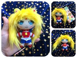 Sailor Moon Plush Phone Charm by TiffyyyCuppyCake