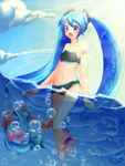 Miku and the sea by lyvxx