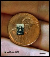 World's Smallest Mona Lisa by Splitlipgypsy